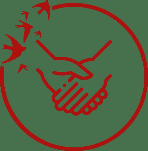 Ikona zuściskiem dłoni