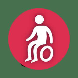 Ikona zczłowiekiem nawózku.
